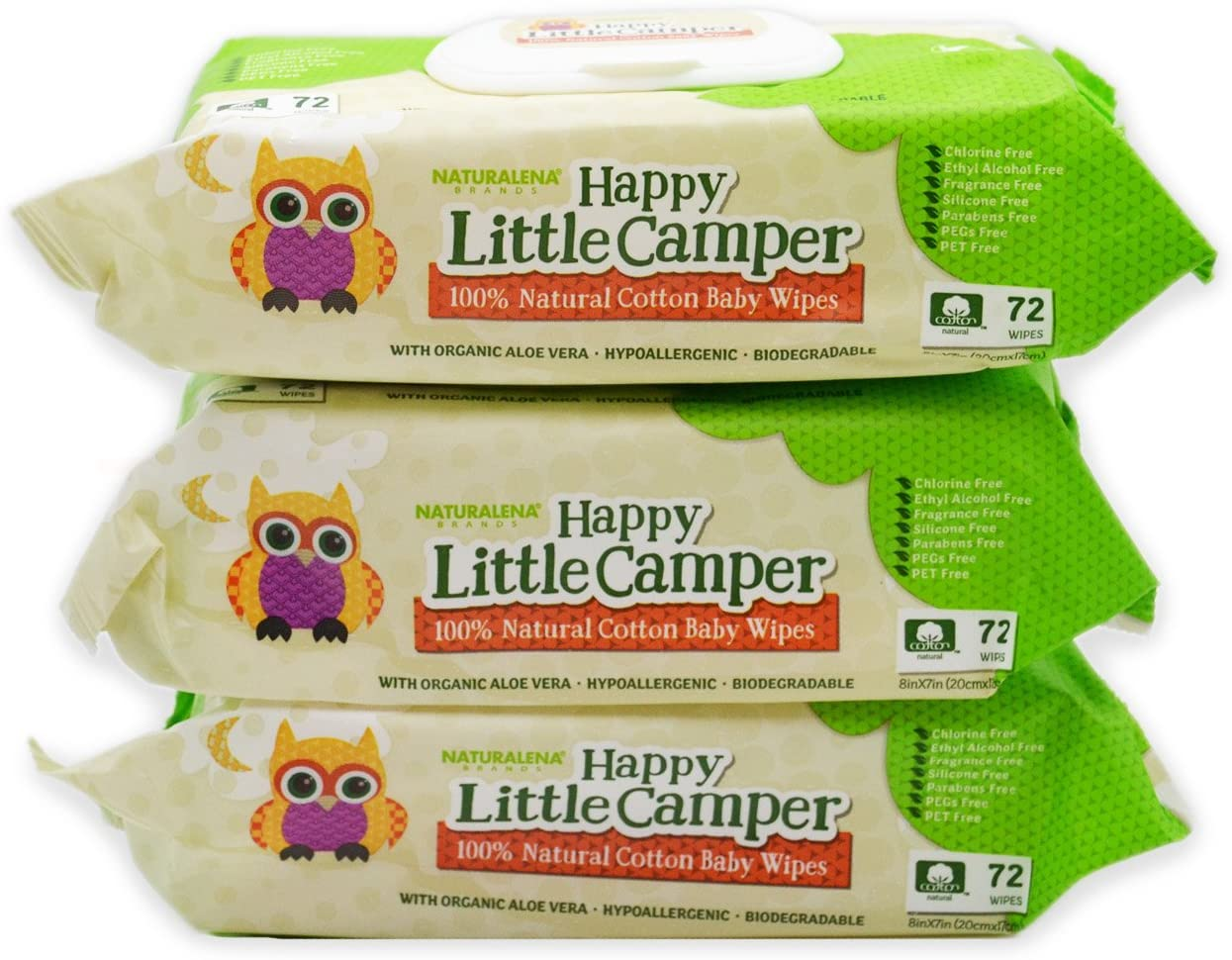 Happy Little Camper Natural Cotton Baby Wipes
