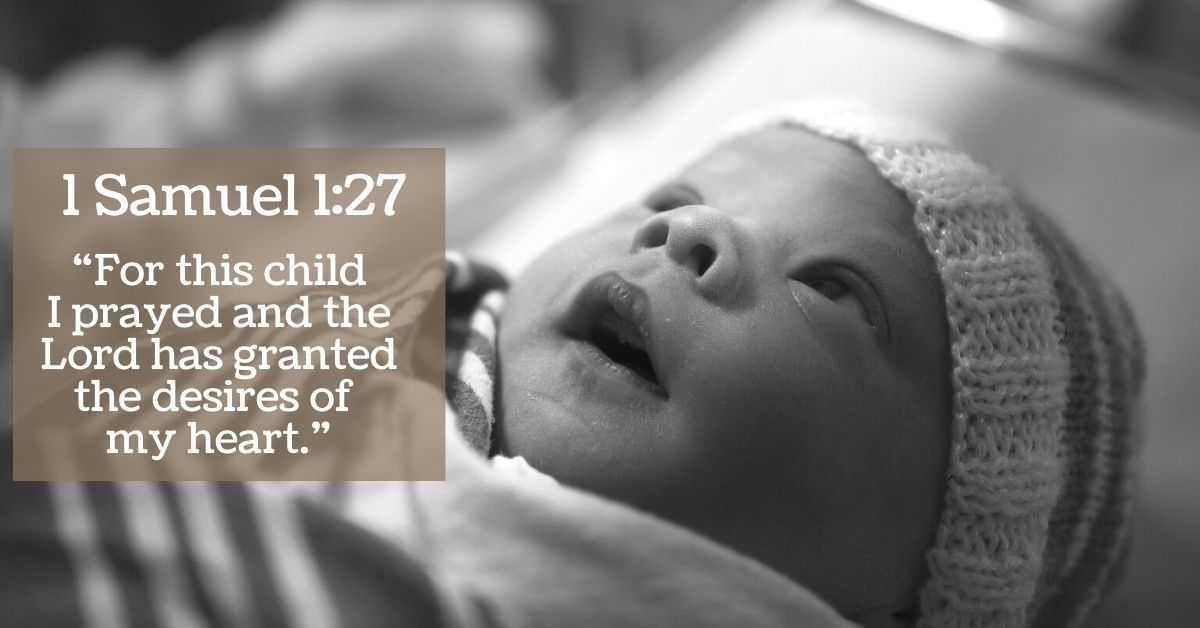 For This Child Christian Verse Picture