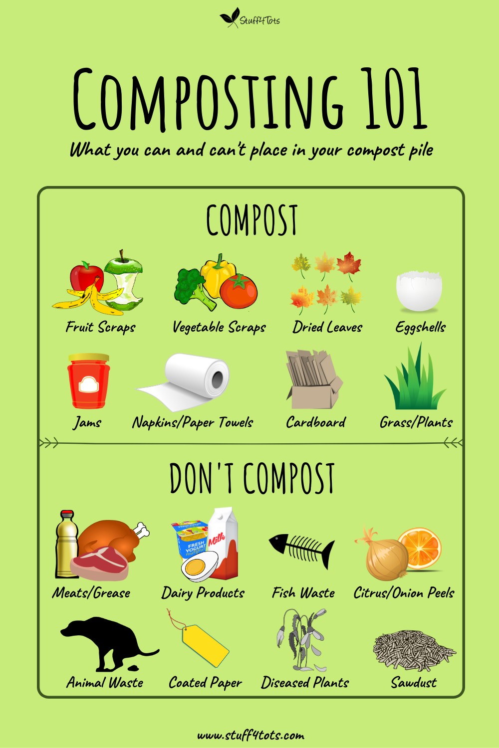 What can and cant be composted