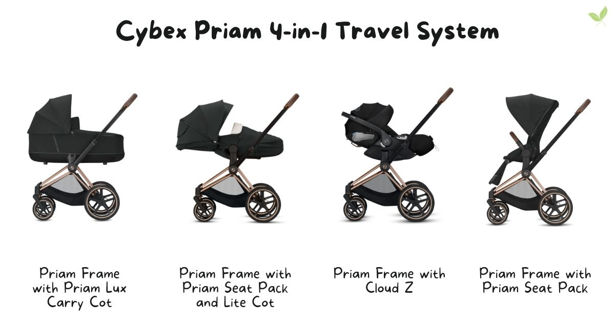 Product image of the Cybex Priam 4-in-1 Travel System