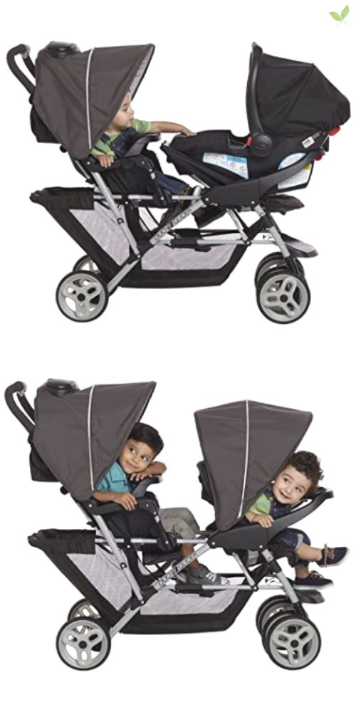 Children aboard a Graco DuoGlider product image