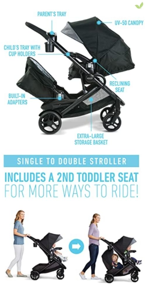 Graco Modes2Grow Double Stroller product details