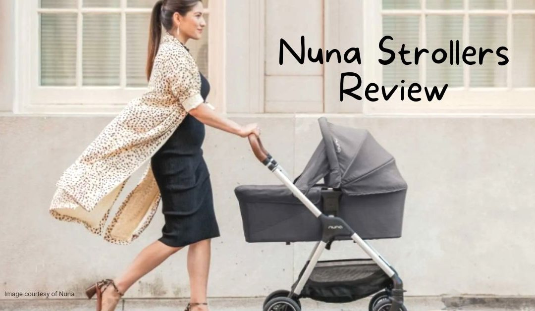 Product image of mother pushing a Nuna Stroller