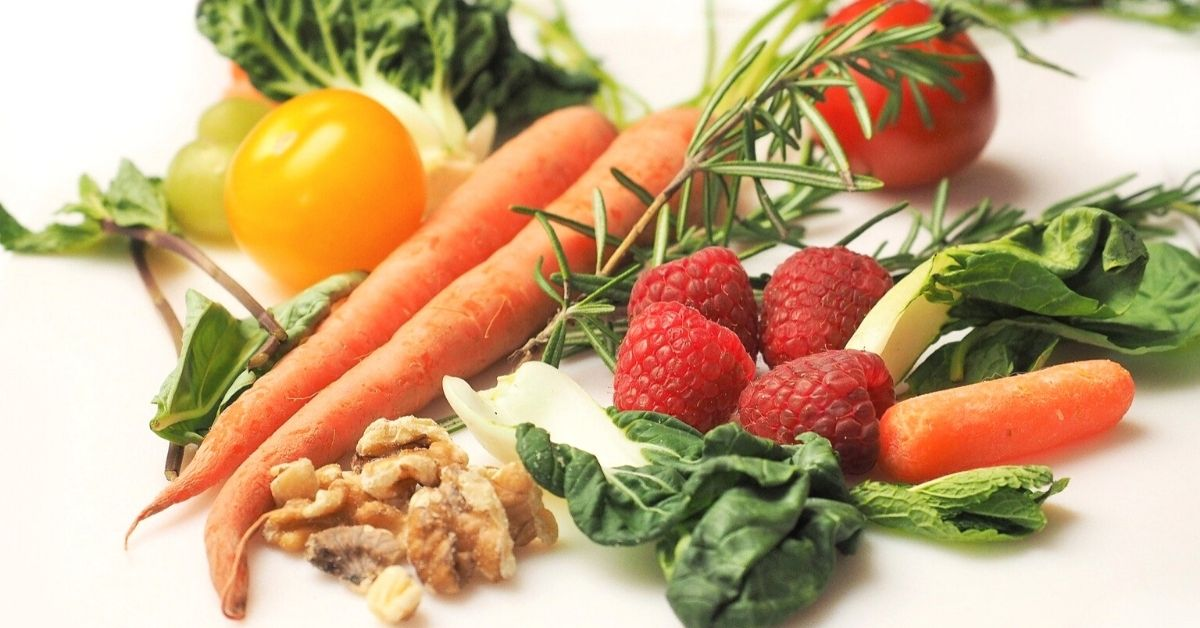Healthy and nutritious fruits and vegetables